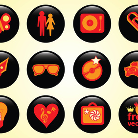 Design Buttons - vector #219735 gratis