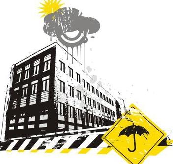 Rainy street - Free vector #219905