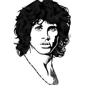 Jim Morrison Vector Portrait - Free vector #220045