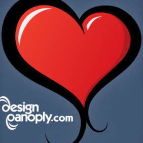 Ilustrated Vector Heart - Free vector #220065