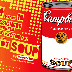Pop Art Soup - vector gratuit #220235