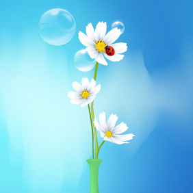 Spring Flowers Vase - Kostenloses vector #220385