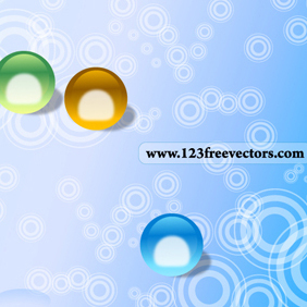 Abstract Circle Background Vector - vector gratuit #220395