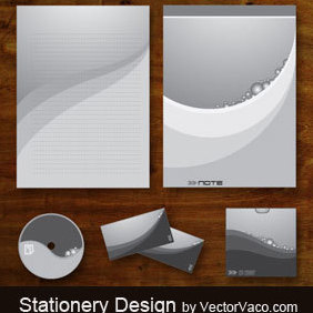 Stationery Design - Free vector #220475