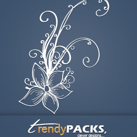 Hand Drawn Floral Vector - Free vector #220515