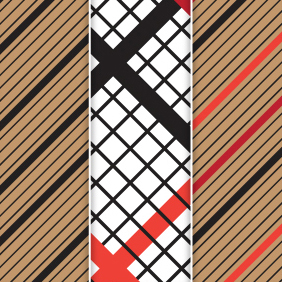 Striped Checked Pattern Vector - vector #220565 gratis