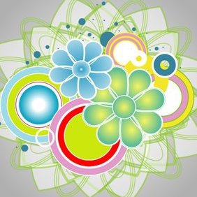 Abstract Colorful Vector IIII - Free vector #220575