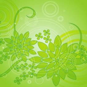 Green Flower Background 3 - vector #220605 gratis