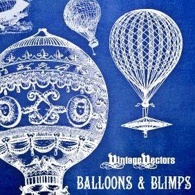 Balloons, Blimps & Dirigibles - Free vector #220745