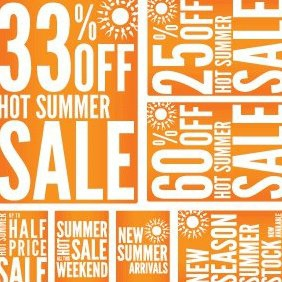 Summer Promotion Sale Printables - бесплатный vector #220775