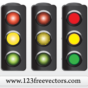 Traffic Signal Vector - vector gratuit #220805