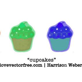 Sketchy Cupcakes - vector gratuit #221005