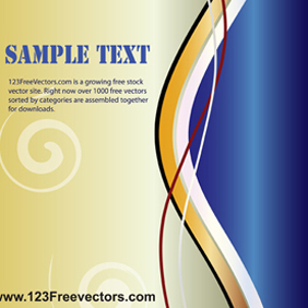 Wave Page Layout Vector - vector #221055 gratis