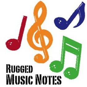 Rugged Music Notes - Free vector #221315