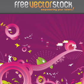Purple Mandness - vector #221525 gratis