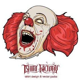Evil Clown - vector gratuit #221565
