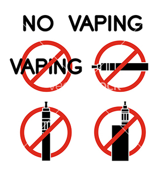 Free no vape icons vector - Free vector #221675