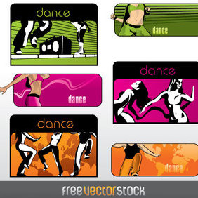 Dance Banners - Free vector #221945