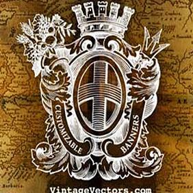 Heraldry Crest Emblem With Banners - vector gratuit(e) #222025