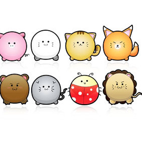 Cute Animals Vector - Free vector #222085