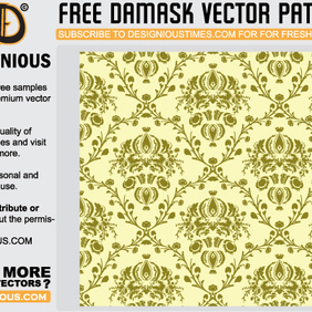 Damask Seamless Vector Pattern - Free vector #222515