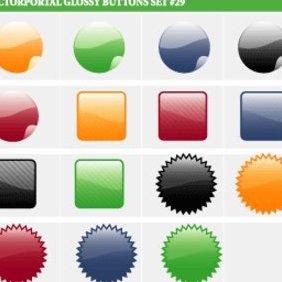 Glossy Vector Buttons - vector #222525 gratis