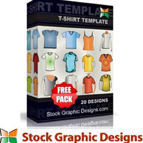 T-Shirt Templates - Free vector #222785