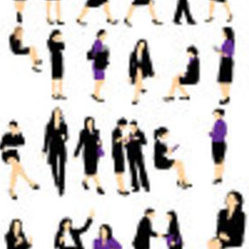 Businesswoman Silhouette - vector #223005 gratis