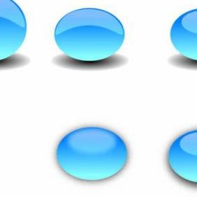 Glass Button Vectors - Free vector #223135