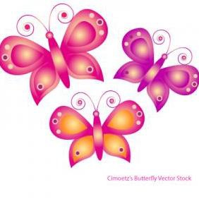 Cimoetzs Colored Butterfly - Free vector #223175