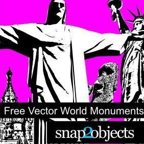 12 Free Vector World Monuments - vector #223205 gratis