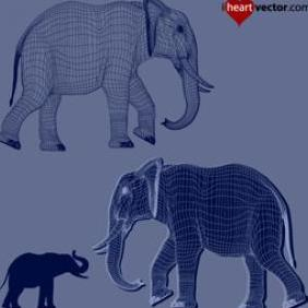 Elephant Vectors - vector gratuit #223275