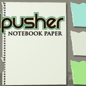 Torn Notebook Paper - vector #223345 gratis