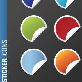 Web 20 Sticker Icon Vectors - Free vector #223375