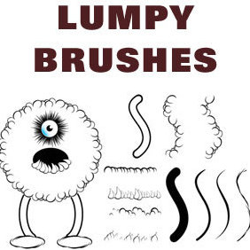 Lumpy Brushes - vector gratuit #223455