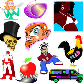 Free Cartoon Characters From Procaroonznet - Free vector #223485
