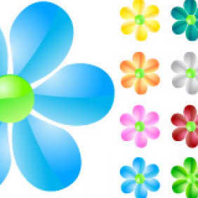 Glass Flowers - Free vector #223725