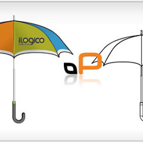 Umbrella Template - vector #223805 gratis