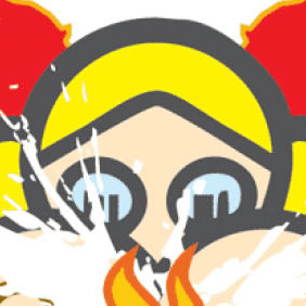 Girl With Fire - vector #223885 gratis
