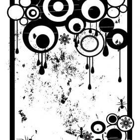 Grunge Circles Vector - vector #223955 gratis