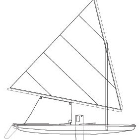 Sunfish Sailboat - vector gratuit #224125
