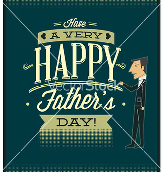 Free fathers day vector - Kostenloses vector #224335