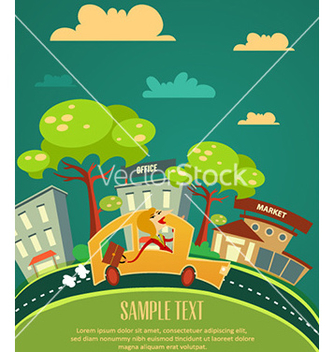Free city stylized with buildings vector - Kostenloses vector #224795