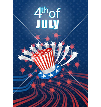 Free 4th of july independence day background vector - Kostenloses vector #225105
