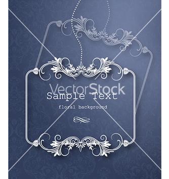 Free floral frame vector - Kostenloses vector #225455