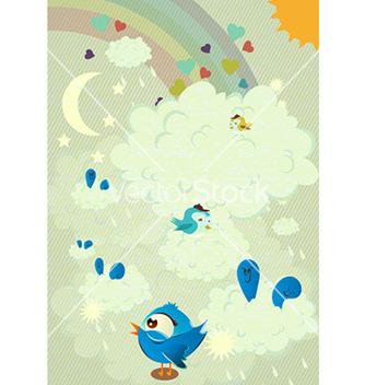 Free abstract birds vector - Free vector #225825