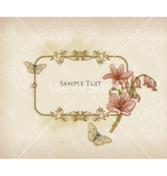Free floral frame vector - Kostenloses vector #225945