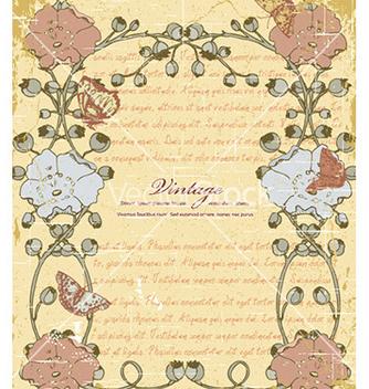 Free grunge floral frame vector - Kostenloses vector #226115