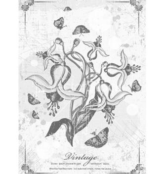 Free vintage floral vector - Kostenloses vector #226195
