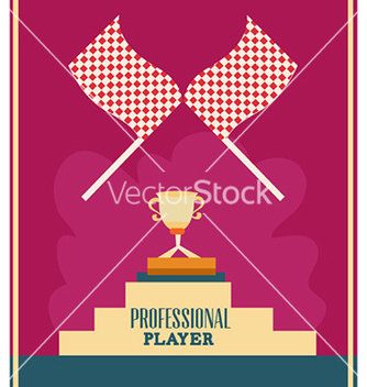 Free with flag and trophy vector - Kostenloses vector #226365